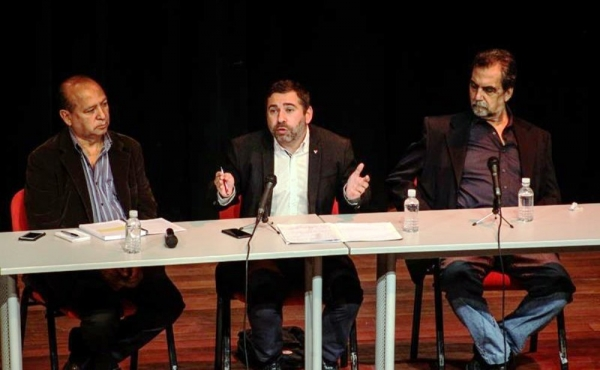 L'eurodiputat d'IU Javier Couso a la conferència que va oferir a Caraques (Veneçuela).
