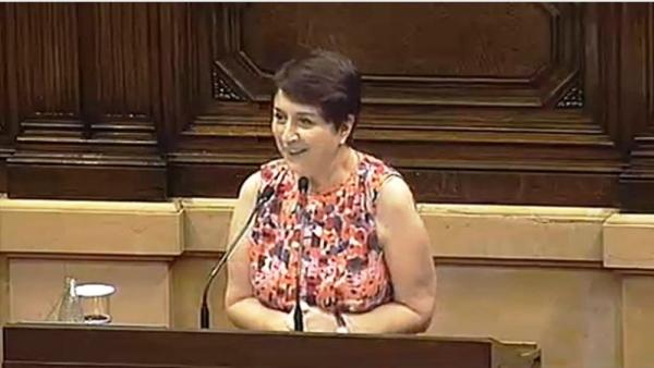 La diputada de CSQP Gemma Lienas.