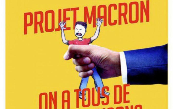 Macron retallada